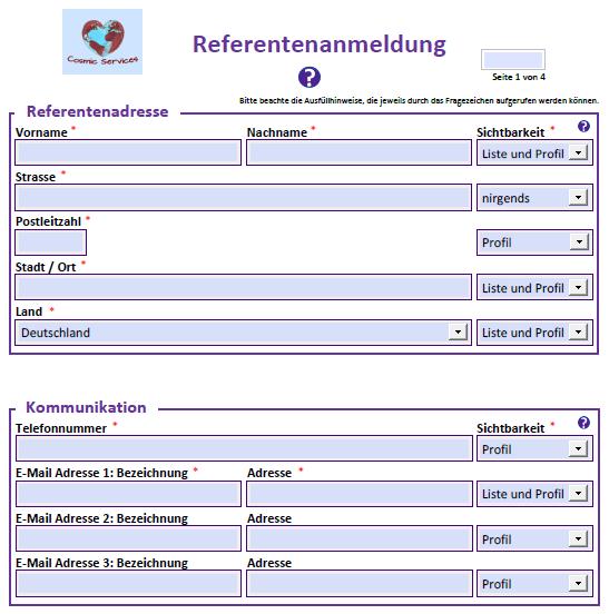Referentenanmeldung-Formular